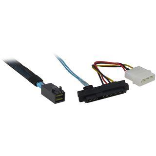 (€39,80*/1m) 0.50m Inter-Tech SAS Adapterkabel SFF-8643 Stecker auf 4xSFF-8482 Schwarz/Rot