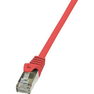 (€3,90*/1m) 1.00m LogiLink Cat. 5e Patchkabel SF/UTP RJ45 Stecker auf RJ45 Stecker Rot