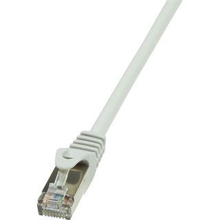 (€7,80*/1m) 0.50m LogiLink Cat. 5e Patchkabel F/UTP RJ45 Stecker auf RJ45 Stecker Grau