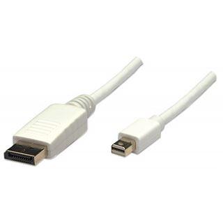 (€3,95*/1m) 2.00m Manhattan Displayport Anschlusskabel Displayport Stecker auf Mini Displayport Stecker Schwarz/Silber