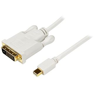 (€11,63*/1m) 3.00m Startech Anschlusskabel DVI 24+1 Stecker auf Mini Displayport Stecker Weiß vergoldet