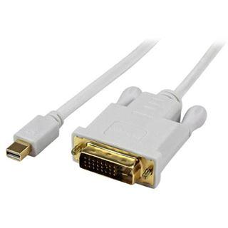 (€42,11*/1m) 0.90m Startech Adapterkabel aktiv DVI 24+1 Buchse auf Mini Displayport Buchse Schwarz vergoldet
