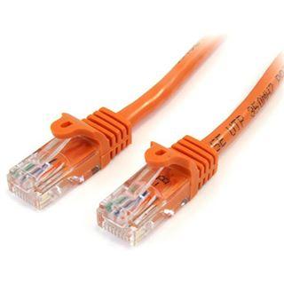 (€4,90*/1m) 1.00m Startech Cat. 5e Patchkabel U/UTP RJ45 Stecker auf RJ45 Stecker Orange