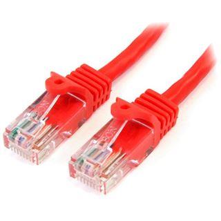 (€6,90*/1m) 1.00m Startech Cat. 5e Patchkabel U/UTP RJ45 Stecker auf RJ45 Stecker Rot