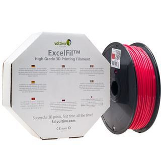 Voltivo ExcelFil 3D Druck Filament, ABS, 1,75mm - rot