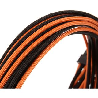CableMod SE-Series KM3, XM2, XP2/3, FL2, XFX Cable Kit - schwarz/orange