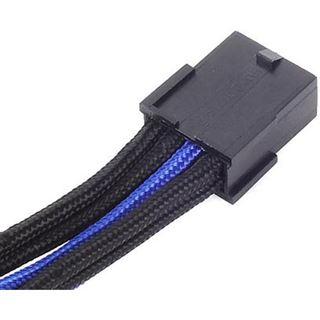 Silverstone EPS 8-Pin zu EPS/ATX 4+4-Pin Kabel, 300mm - schwarz/blau