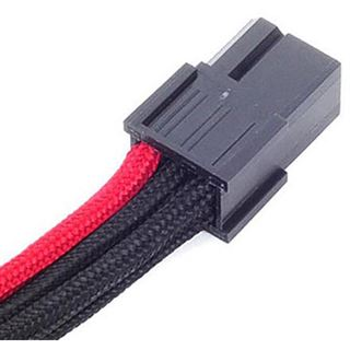 Silverstone 6-Pin-PCIe zu 6-Pin-PCIe Kabel 250mm - schwarz/rot