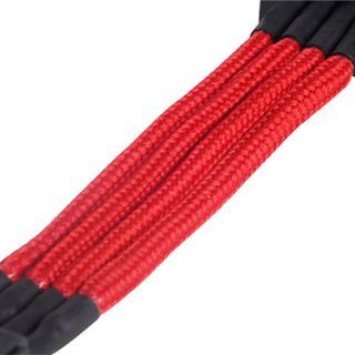 Silverstone 4-Pol-Molex auf 4x SATA Verlängerung - 300mm rot