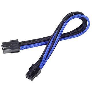 Silverstone 6-Pin-PCIe zu 6-Pin-PCIe Kabel 250mm - schwarz/blau