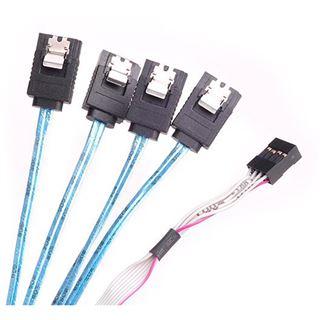 Silverstone SST-CPS05 Mini-SAS zu SATA 7-Pin Kabel - 50 cm