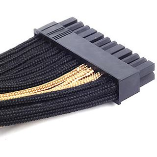 Silverstone ATX 24-Pin-Kabel, 300mm - schwarz/gold