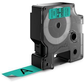 Dymo D1 19mm x 7m schwarz auf grün