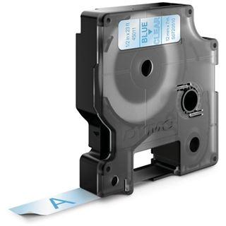 Dymo D1 12mm x 7m blau auf transparent