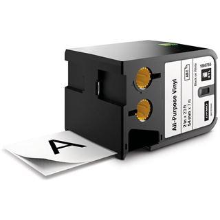 Dymo XTL Vinyl Permanent 54mm schwarz auf weiß