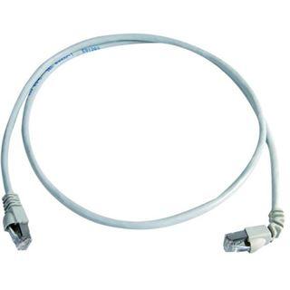 (€3,30*/1m) 3.00m Telegärtner Cat. 6a Patchkabel S/FTP RJ45 Stecker auf RJ45 Stecker gewinkelt Grau halogenfrei