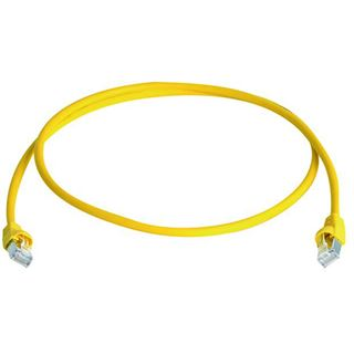 (€6,90*/1m) 1.00m Telegärtner Cat. 6a Patchkabel S/FTP PiMF RJ45 Stecker auf RJ45 Stecker Gelb halogenfrei