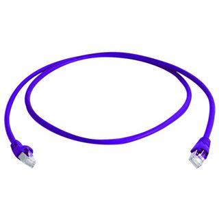 (€2,97*/1m) 3.00m Telegärtner Cat. 6a Patchkabel S/FTP PiMF RJ45 Stecker auf RJ45 Stecker Violett