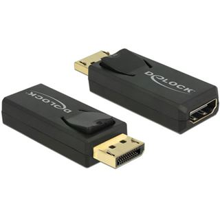 Delock Displayport 1.2 Adapter DP++ Displayport Stecker auf HDMI-Buchse Schwarz 3D-Formate / 4K / vergoldet