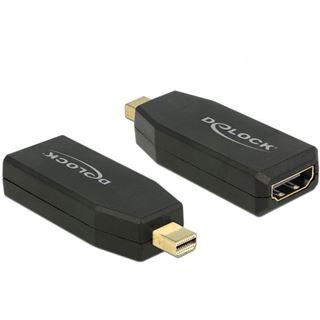 Delock Displayport 1.2 Adapter aktiv Mini Displayport Stecker auf HDMI-Buchse Schwarz 3D-Formate / 4K