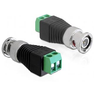 Delock Adapter Terminalblock 2Pin -> BNC Stecker