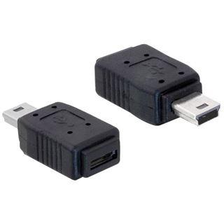 USB Delock Adapter mini B -> micro A+B St/Bu