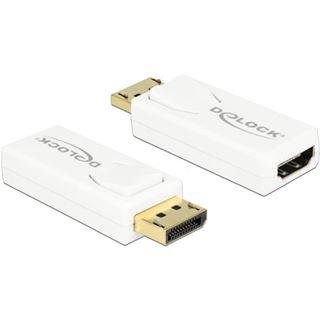 Delock Displayport 1.2 Adapter DP++ Displayport Stecker auf HDMI-Buchse Weiß 3D-Formate / 4K / vergoldet