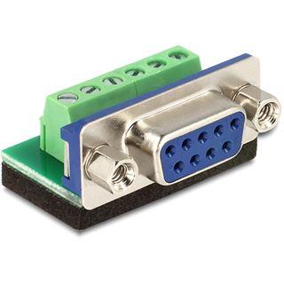Delock Adapter Terminalblock 6Pin -> D-Sub9 Buchse