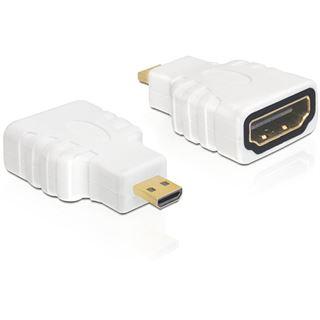 HDMI Delock Adapter A -> micro D Bu/St weiß