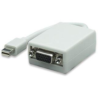 0.17m Manhattan Displayport Adapterkabel Mini Displayport Stecker auf VGA 15pol Buchse Weiß