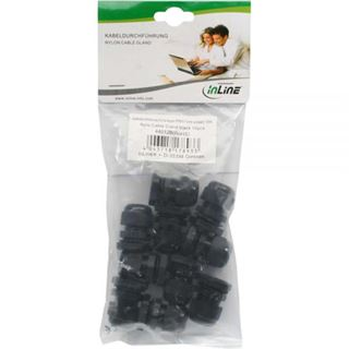 InLine Kabeldurchführung PG 13.5 Nylon IP68 6-12mm, schwarz, 10 Stück