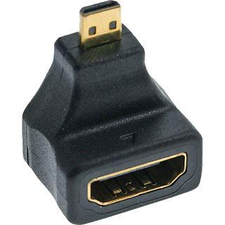 InLine HDMI Adapter HDMI-Buchse auf HDMI Typ D Stecker Schwarz 4K / gewinkelt oben / vergoldet