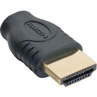 InLine HDMI Adapter HDMI Typ D Buchse auf HDMI-Buchse Schwarz vergoldet
