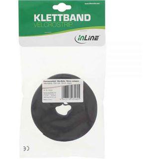 InLine 59934S Klettverschlussband L10m x B16mm schwarz