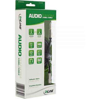 (€0,79*/1m) 10.00m InLine Audio Verlängerungskabel 3.5mm Klinken-Stecker auf 3.5mm Klinken-Buchse Schwarz Slim