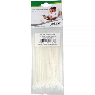 InLine 59977A Kugelbinder Länge 100mm, 100 Stück natur