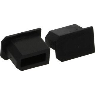 InLine Staubschutz für FireWire 6pol. Buchse, schwarz 50er Pack