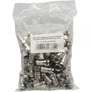InLine F-Stecker, für Koaxialkabel mit Aussenmantel 6,5mm, 100er Pack, bulk