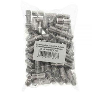 InLine SAT F-Verbinder (Doppelbuchse, F-Kupplung) 100er Pack bulk