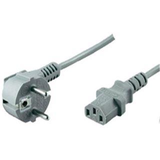 (€1,78*/1m) 5.00m ShiverPeaks Stromkabel Basic Line Schutzkontakt Stecker auf Kaltgeräte Stecker C13 Grau