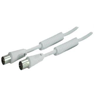 (€0,46*/1m) 15.00m ShiverPeaks Antenne Anschlusskabel Professional Koax Stecker auf Koax Buchse Weiß