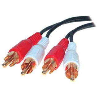 (€1,56*/1m) 2.50m ShiverPeaks Audio Anschlusskabel Basic Line 2xCinch Stecker auf 2xCinch Stecker Schwarz vergoldet