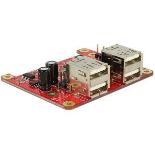 Delock Konverter Raspberry Pi USB 2.0 zu 4 x USB 2.0 A