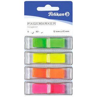 Pelikan Pagemarker Transp-Mix 4 Farben 12x45mm 4x40 Blatt