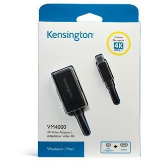 Kensington Displayport 1.2 Adapter Mini Displayport Stecker auf HDMI-Buchse Schwarz 4K