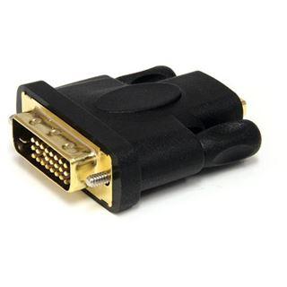 Startech DVI-D Adapter passiv DVI 24+1 Stecker auf HDMI-Buchse Schwarz vergoldet