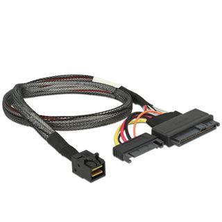 Kabel Delock SFF-8643 -> U.2 SFF-8639 + SATA 15Pin 0.50m