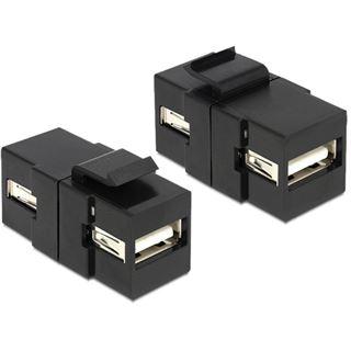 Delock Keystone USB A Buchse schwarz