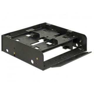 """Delock Einbaurahmen 5.25"""" für 4x 2.5"""" HDD/SSD Kunststoff schwarz"""