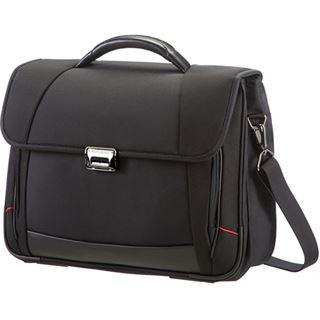 """Samsonite PRO-DLX 4 Briefcase 2 Gussets 16"""" schwarz"""